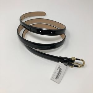 J. Crew Black Patent Leather Belt Size M